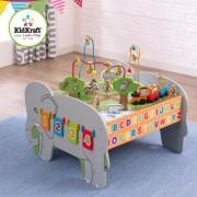 Mesa de actividades de madera para niños juego educativo con tren y Juguetes