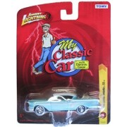 Johnny Lightning R25 My Classic Car With Dennis Gage 1958 Chevy Impala SS Light Blue/White Roof