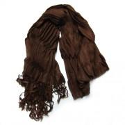 Foulard marrón chocolate