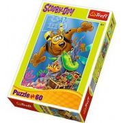 Puzzle copii Trefl 60 piese - Scufundari cu Scooby Doo