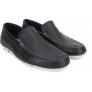 Clarks Trimocc Sun Navy Leather Loafers For Men(Navy)