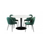 SoffaDirekt OLIVIA Matgrupp Vit/Svart/Grön Matgrupper