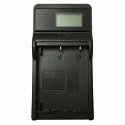 Cargador de bateria de camara ismartdigi W126 LCD USB para fujifilm NP-W126-negro
