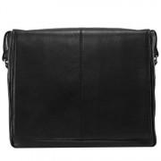 Mcklein Męska torba na ramię skóra naturalna San Francesco czarna 15,6'' one size