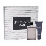 Jimmy Choo Jimmy Choo Man подаръчен комплект EDT 100 ml + EDT 7,5 ml + балсам след бръснене 100 ml за мъже