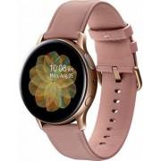 """Smartwatch Samsung Galaxy Watch Active 2 SM-R830, Procesor Dual-Core 1.15GHz, Super AMOLED 1.2"""", 768MB RAM, 4GB Flash, Bluetooth, Wi-Fi, Carcasa Otel, Bratara Piele 40mm, Rezistent la apa si praf, Tizen (Auriu/Roz)"""