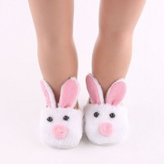 ZWSISU Rabbit Doll shoes for 18 Inch Doll Slippers- White Bunny Slippers, Sized for American Girl and More! Doll Accessories, Doll Clothing for 18 inch Dolls, My Doll's Life Doll Clothes
