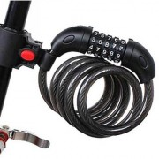 High Quality Bike Cycle Coiled Cable Lock 5 Digit