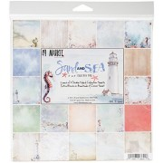 "49 And Market Ss86448 Sand & Sea Collection Pack 8""X8"" 18/Pkg-9 Designs/2 Each"