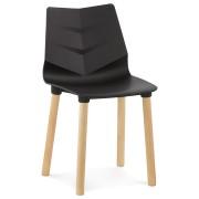 Zwarte stoel 'KORIDA' in Scandinavische stijl