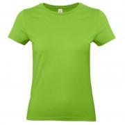 B&C Limegroene shirt met ronde hals voor dames