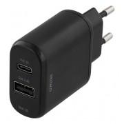 Deltaco Väggladdare med USB-C och USB
