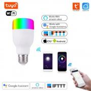 Inteligentná WiFi RGBW Žiarovka Tuya Smart Life E27 E26