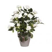 Floare artificiala, trandafir, Ø 25 cm, alb