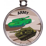 Army Award, 1 inch dia Silver Medal 'Our Protectors Collection' by Keepsake Awards