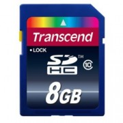 8GB SDHC, Transcend Premium, Class 10, скорост на четене 30MB/s, скорост на запис 10MB/s