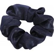 Lucardi Diversen - Donkerblauwe scrunchie satijn look