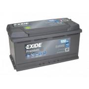 EXIDE Premium EA1000 100Ah 900A autó akkumulátor jobb+ (+AJÁNDÉK!)