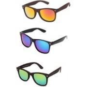 Amour-Propre Aviator Sunglasses(Blue, Green, Golden)