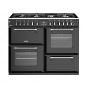 Stoves Richmond Deluxe S1100DF Black 110cm Dual Fuel Range Cooker