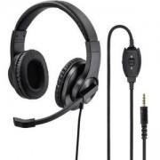 Слушалки с микрофон HAMA HS-P350, стерео, Y-адаптер, 3.5мм жак, Черен, HAMA-139926