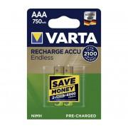 VARTA 56673 - 2x Baterii reîncărcabile 750 mAh AAA 1,2V