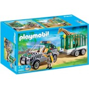 Playmobil 4855 Zoo Vehicle with Giraffe & Trailer