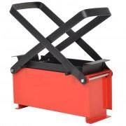 vidaXL Presă de bricheți din hârtie, oțel, 34x14x14 cm, negru și roșu