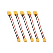 5Pcs 10cm 20AWG XT60 Female Plug to XT30 Male Plug Cable Adapter for Battery Charging