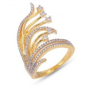 Tistabene Retails Contemporary Designer American Diamond Stylish Party Wear Cocktail Ring For Women And Girls (RI-0542)