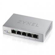 Zyxel 5-Port Gigabit Easy Web Managed Plus Switch, Sturdy Metal, QoS, WebGUI, Jubmo Frames, VLANs, DHCP Client, IGMP Snooping, Link Aggregation, [GS1200-5]