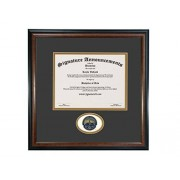 "Signature Announcements Pepperdine-University Undergraduate, Graduate/Profesional/Médico esculpido Foil Sello Diploma Marco, 16"" x 16"", Mate Caoba"