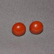 Cercei cu surub jasp rosu semisfere 8mm