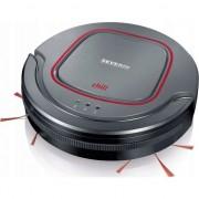 Robot aspirare Severin Chill RB7025, wireless, perii laterale duble, senzori anti-cadere, negru/rosu