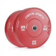 Capital Sports Nipton 25, tárcsa, súly, 2 x 25 kg, keményített gumi, piros (FIT29-Nipton25x2)