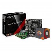 Combo Actualización Amd Ryzen 3 2200g Am4 8gb-Negro