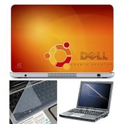 FineArts Laptop Skin 15.6 Inch With Key Guard & Screen Protector - Dell Ubuntu