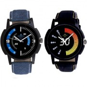 Race Speed And Attractive Almight Blue Line Analog Men's Combo Wrist Watch