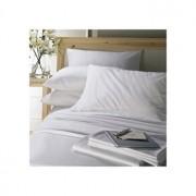 Lenjerie de pat, Dormisete, 2 persoane, Satin Dhalia, 220 x 280 cm, bumbac, Alb