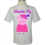 Camiseta Peppa Pig Mamãe Pig de Chapéu - Coleção Peppa Pig