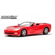 Greenlight 10th Anniversary Edition: 2005 Chevy Corvette C6 Convertible 1:64 Scale (Red)
