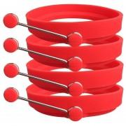 Anillos De Huevo Molde Para Cocinar La Cocina, Juego De 4, Rojo