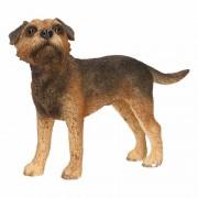 Merkloos Honden beeldje Border Terrier 11 cm