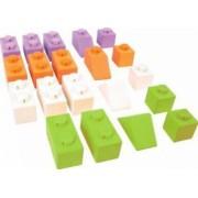Cuburi din lemn - Set 20 buc