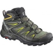 Salomon X Ultra 3 Wide Mid GTX Hiking & Trekking Shoes For Men(Green)