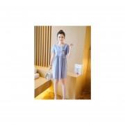 Vestido corto con mangas cortas estilo casual color en azul