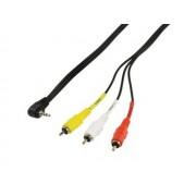 Valueline CABLE-537 3xRCA dugó - 3,5mm 4pin jack dugó kamera Audio/Video összekötő kábel 1,5m