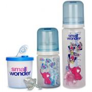 Small Wonder Pure Plus Set of 4 BPA Free Blue 125ml 250ml PP Bottle Orthodontic LSR Pacifier Shield Blue