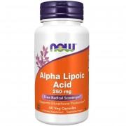 Now Foods ALA Kyselina Alfa Lipoová 250 mg 60 kapslí - 60 kapslí