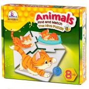 Bookid Toys Educational Animal Puzzles for Toddlers - Animals Hive Puzzle, 3 Piece Matching Includes Eight